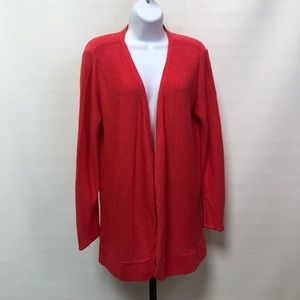 Eileen Fisher Coral Cotton Cardigan